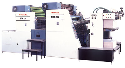 Two Colour Sheetfed Offset Printing Machine SOM 236/231